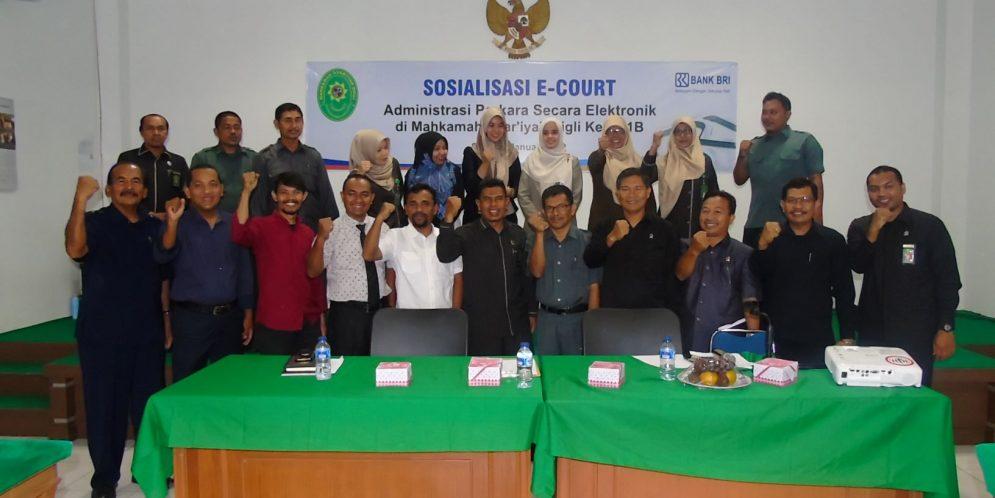 Pelaksanaan Sosialisasi E-COURT Pada Mahkamah Syar'iyah Sigli.