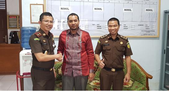 Pertemuan Panmud Jinayat MS Sigli dengan Kacabjari Pidie di Kota Bakti